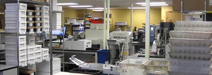 Photo showing our production area