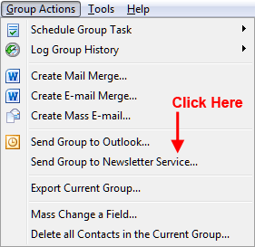 Use Group Actions when you have a special mailing list