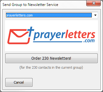 3. Choose prayerletters.com and click the Order button